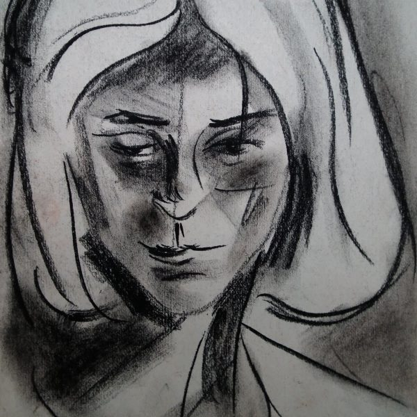 charcoal on paper, 30x20, 1994.